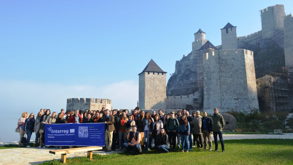 DANUrB project partners at Golubac fortress
