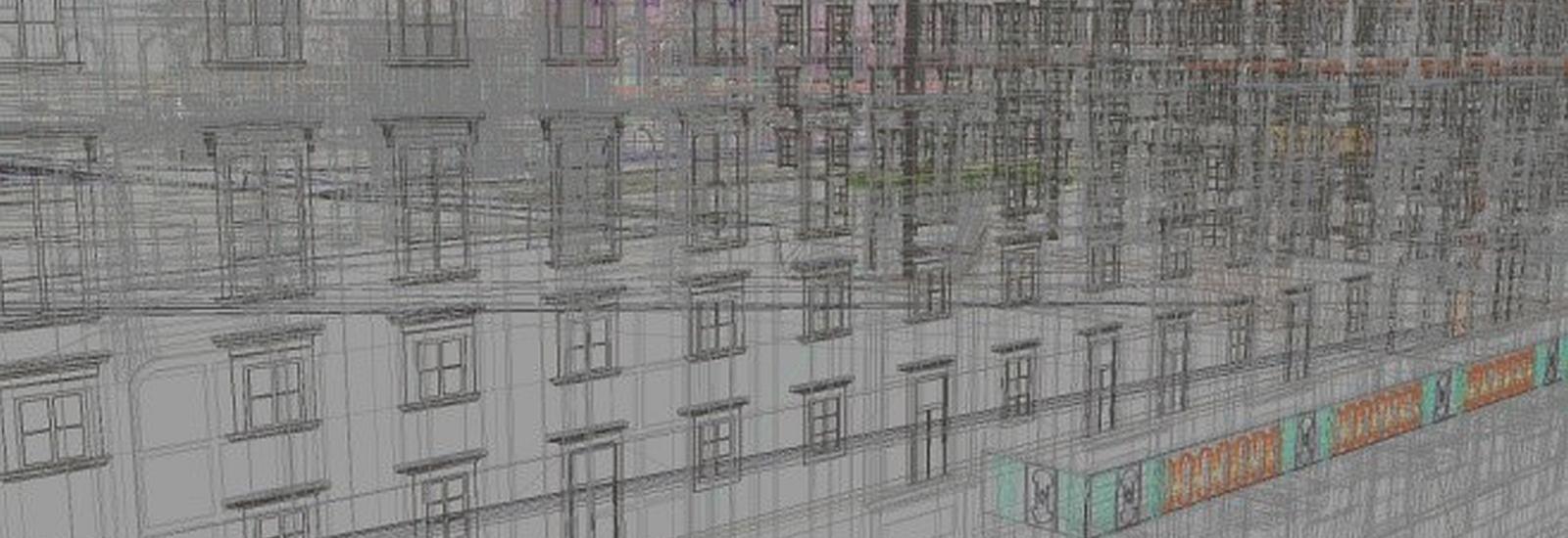Vienna Hofburg 3D digital model